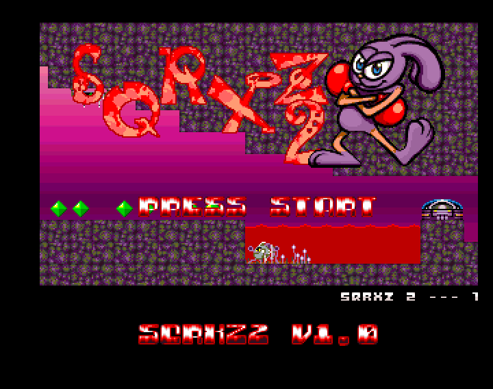 Sqrxz 2 Amiga OCS - Title Screen