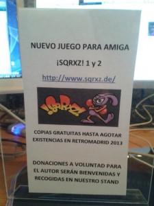 Sqrxz Amiga OCS presentation @ RetroMadrid 2013